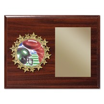 Star Frame Football Plaque