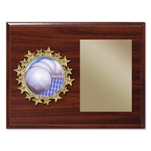 Star Frame Volleyball Plaque