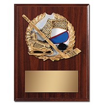 Hockey Plaque with Hockey Resin Relief