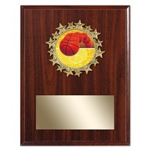 Star Frame Basketball Plaque