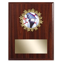 Star Frame Bowling Plaque