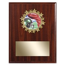 Star Football Plaque