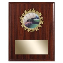 Star Frame Golf Plaque