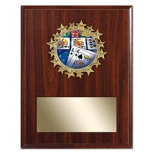 Star Frame Poker Plaque