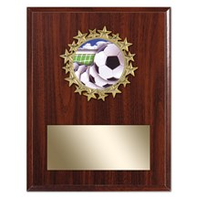 Star Frame Soccer Plaque