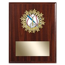 Star Frame Tee Ball Plaque - 3 Sizes