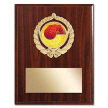 Gold Braid Basketball Plaque