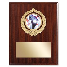 Gold Braid Bowling Plaque