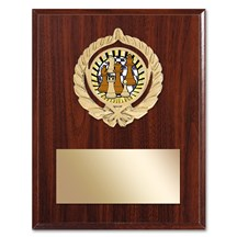 Gold Braid Chess Plaque