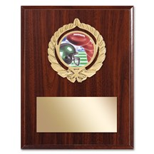 Gold Braid Football Plaque