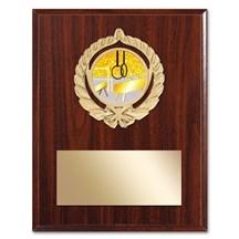 Gold Braid Gymnastics Plaque