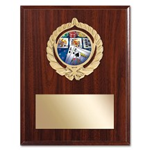 Gold Braid Poker Plaque