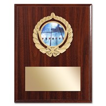 Gold Braid Swimming Plaque
