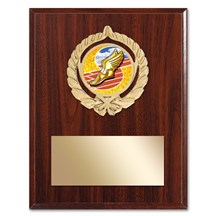 Gold Braid Track Plaque