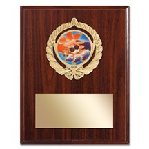 Gold Braid Wrestling Plaque