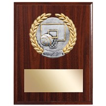 Resin Laurel Basketball Plaque