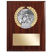 Football Plaque w/ Wreath Medallion