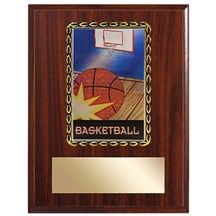 3D Action Basketball Plaque