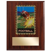 3D Action Football Plaque
