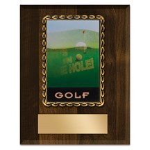 3D Action Golf Plaque