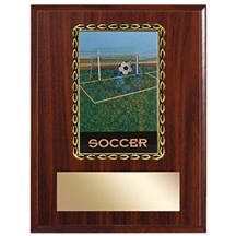 3D Action Soccer Plaque