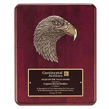 Rosewood Finish Eagle Casting Plaque - 2 Sizes