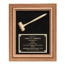American Walnut Frame w/ Gold Metal Gavel
