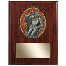 Male Basketball Plaque w/ 3D Heavy Resin Plaque Mount  - 2 Sizes