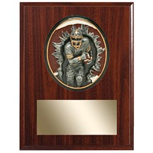 Football Plaque w/ 3D Heavy Resin Plaque Mount- 2 Sizes