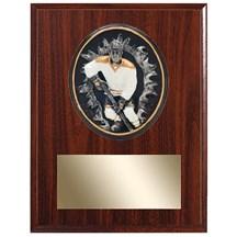 Hockey Plaque w/ 3D Heavy Resin Plaque Mount - 2 Sizes