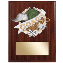 Coach Plaque with Coach Resin Relief