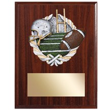 Football Plaque with Football Resin Relief