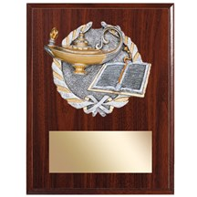 Knowledge Plaque with Knowledge Resin Relief