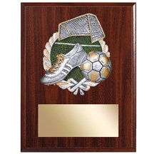 Soccer Plaque with Soccer Resin Relief