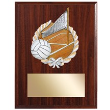 Volleyball Plaque with Volleyball Resin Relief