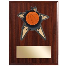 Basketball Spring Action Plaque - 3 Sizes