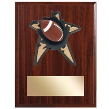 Football Spring Action Plaque - 3 Sizes