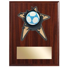 Soccer Spring Action Plaque - 3 Sizes