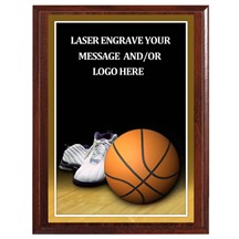Basketball Photo Sports Plaque - 4 Sizes