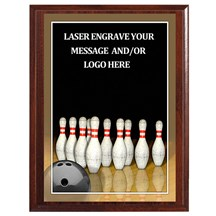 Bowling Photo Sports Plaque - 2 Sizes