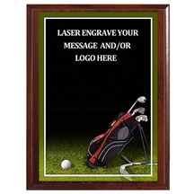 Golf Photo Sports Plaque - 3 Sizes