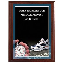 Track Photo Sports Plaque - 4 Sizes