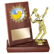 Tennis Stand Up Plaque