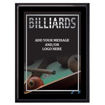 Exclusive Billiard Plaque - 4 Sizes