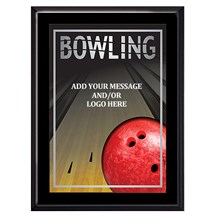 Exclusive Bowling Plaque - 4 Sizes