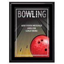 Exclusive Bowling Plaque - 4 Sizes