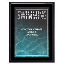 Exclusive Swimming Plaque - 4 Sizes