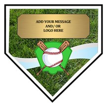 Exclusive Home Plate Baseball Plaque - 3 Sizes