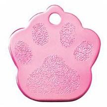 Pink Paw Print Pet Tag