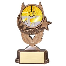 Gymnastic Trophy with Mylar Scene